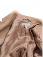 Manteau mi-long en laine camel NEUF Prix boutique 205€ Taille 36