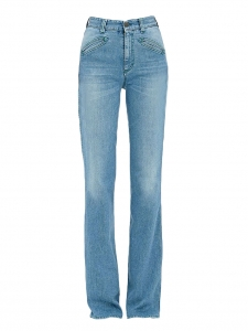 Edie Archivio Light blue stretch-cotton denim high waist flared jeans Retail price $250 Size 25 (XS)