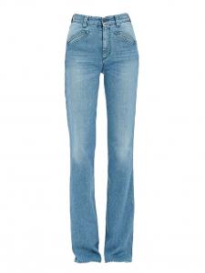 Jean Edie Archivio bleu clair taille haute évasé Prix boutique $250 Taille 25 (XS)