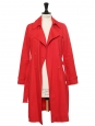 MAHLA Red cotton twill trench coat Retail price €200 Size 34/36