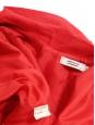 Manteau trench MAHLA en sergé de coton rouge Px boutique 200€ Taille 34/36