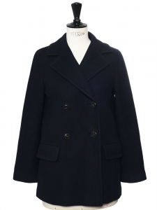A.P.C Paris Navy blue wool buttoned peacoat Retail price €450 size 38
