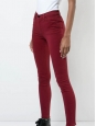 Black cherry red 811 mid-rise skinny leg jeans Retail price 140€ Size 25