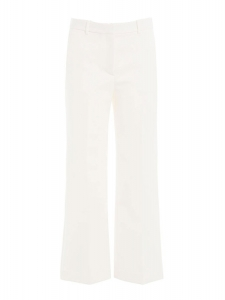 Pantalon SPRINZA cropped en crêpe blanc ivoire Prix boutique 260€ Taille 34