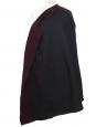 Manteau droit mi-long en laine prune Taille 36