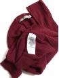 Burgundy red wool short sleeves round neck top Retail price $195 Size XS