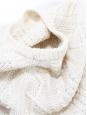 Robe manches longues col rond en maille épaisse blanc crème Taille 36/38
