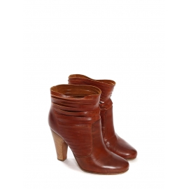 Tan brown cut-out leather ankle boots Retail price €750 Size 37