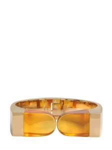 Bracelet manchette GEMMA quartz et plaqué or Px boutique 690€