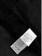 Manteau veste col rond en lapin noir Prix boutique 1625€ Taille 38