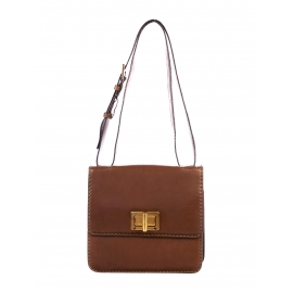 LOUISE Brown leather cross body bag Retail price €1450