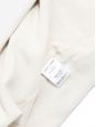 Cream white twill double-breasted blazer jacket Retail price €1000 Size 38