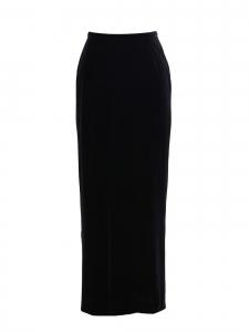 Jupe longue taille haute en velours stretch noir Prix boutique 990€ Taille 38