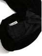 Stretch black velvet high waist maxi skirt Retail price €990 Size 38