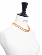 Rose gold chain ladder with Swarovski crystals necklace NEW Retail price €500