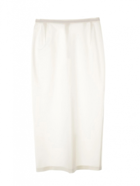 High waist white strech midi skirt Retail price €400 Size XS