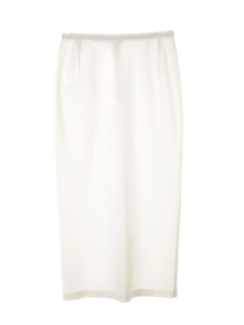 High waist white strech midi skirt Retail price €400 Size XS