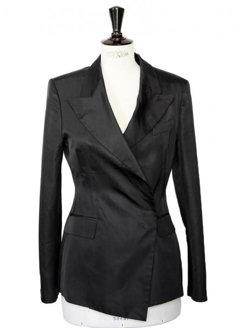 Veste de smoking blazer en soie noire Prix boutique 1500€ Taille 36/38