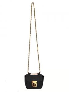 Sac ELSIE mini à bandoulière en cuir grainé noir Px boutique 850€