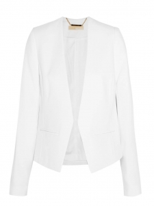 White stretch crepe short blazer jacket Retail price $250 Size 36
