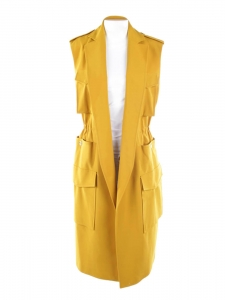 RIMINI mustard yellow maxi dress /jacket Retail price $456 Size 36 to 38