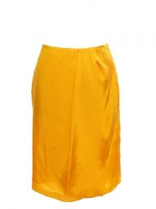 Jupe TWILL droite plissée jaune miel Px boutique 250€ Taille 36