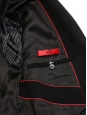 MIGOR Men's black cashmere wool long coat Retail price €750 Size 48 (M)
