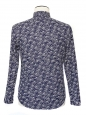 Chemise WAVE en coton bleu imprimé vagues blanches NEUVE Px boutique 89€ Taille S