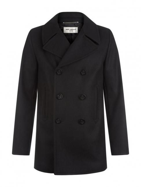 Manteau caban Homme en cachemire noir Prix boutique 1790€ Taille 50