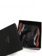 Bottines Alessio Black Scorpion en cuir noir Venezia Prix boutique $2150 Taille 7.5