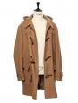 Manteau Homme duffle coat à capuche en laine camel Prix boutique 400€ Taille 50