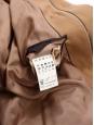 Tan brown wool hooded duffle coat Retail price €400 Size 40