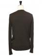 Dark green wool V neckline men's sweater Retail price €140 Size M