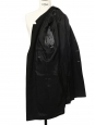 Manteau Homme long en laine et cachemire noir Prix boutique 450€ Taille 52