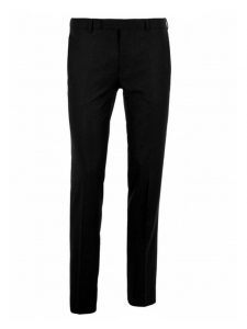 Black wool slim fit Romantic H13 men's pants Retail price €195 Size 38