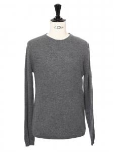 Pull Homme col rond en cachemire gris Prix boutique 405€ Taille M