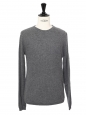 Grey cashmere wool round neck men's sweater Retail price €405 Size M