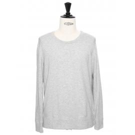 Light grey round neck men's cotton sweater Retail price €230 Size M