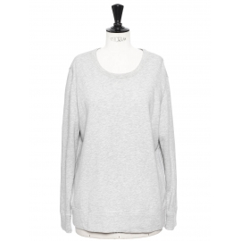 Heather light grey cotton sweater Retail price €230 Size 38