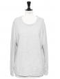 Sweatshirt en coton gris clair chiné Prix boutique 230€ Taille 38