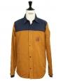 Veste blouson HUDSON imperméable marron camel et bleu marine Prix boutique $168 Taille M