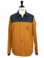 HUDSON navy blue and tan brown waterproof men's jacket Retail price $169 SIze M