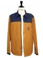 HUDSON navy blue and tan brown waterproof men's jacket Retail price $169 SIze M