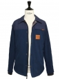 HUDSON navy blue waterproof men's jacket Retail price $169 Size S