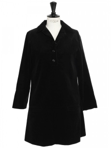 Long sleeves black corduroy dress Retail price €325 Size 36