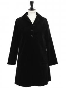 Robe manches longues en velours côtelé noir Prix boutique 325€ Taille 36