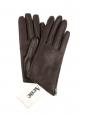 Gants CELA en cuir marron doublé laine Prix boutique $330 Taille 7