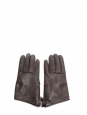 CELA dark brown leather gloves with wool lining Retail price $330 Size 7