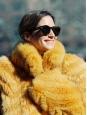 Manteau veste en fausse fourrure jaune vif Prix boutique €645 Taille L