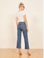 Jean taille haute bleu petite wide crop Prix boutique $128 Taille 26
